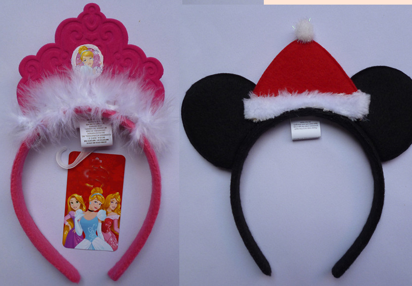 Free shipping ,children adult cinderella princess mouse with Christmas hat party headband hairband