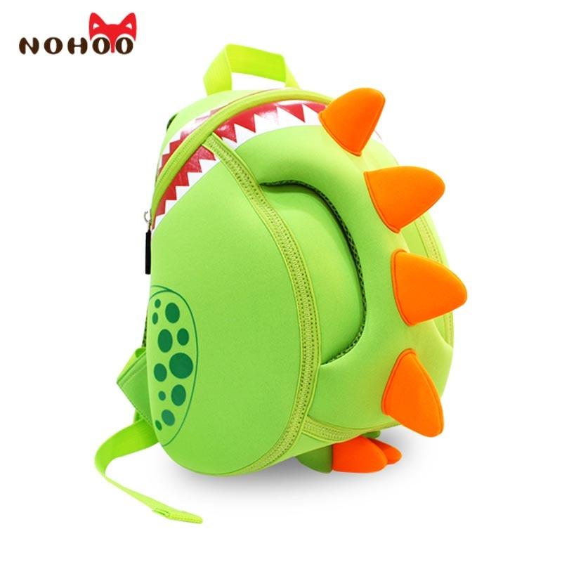NOHOO Baby Kid's School Bags Waterproof Dinosaur Neoprene Children School Bags Boys Girls 3D Cartoon Bags for 2-5 Years Old