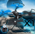 Drone JJRC X1 Com Motor Brushless 2.4G 4 Canal Gyro Quadcopter Controle Remoto 400 M Distância F16594/5