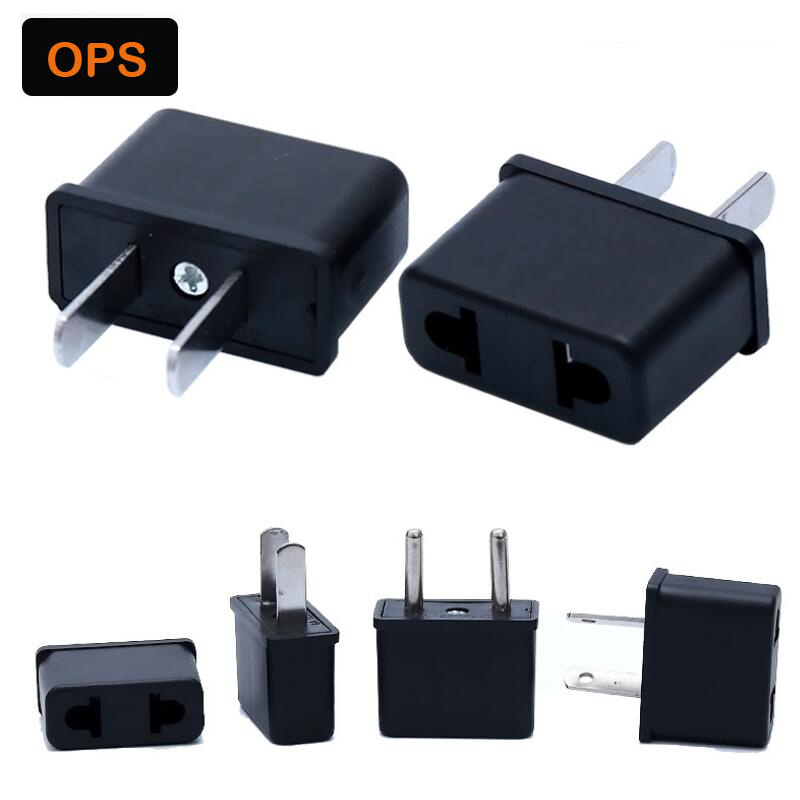 100 pcs Universal AU EU US Plug Adapter Converter Travel Power Electrical Socket Outlets