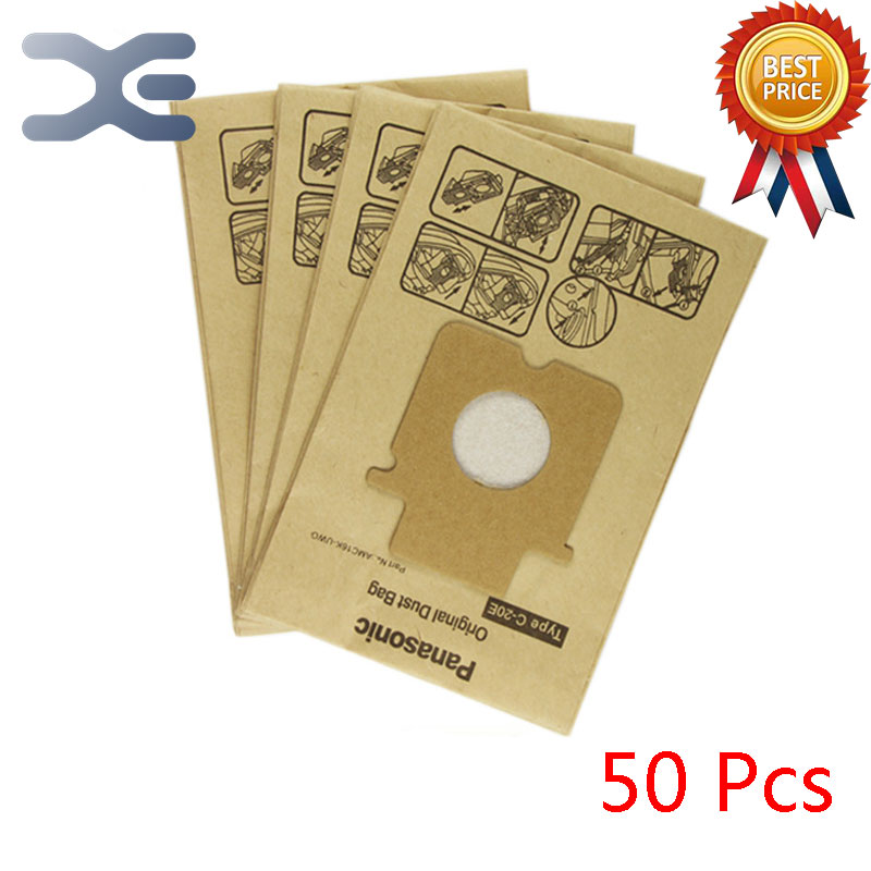 50Pcs High Quality Compatible With Panasonic Vacuum Cleaner Accessories Garbage Cleaner Paper Bag MC-E7101 / E7302 / E7111 10pcs high quality adaptation panasonic vacuum cleaner accessories garbage cleaner paper bag c 13 mc ca291 ca293ca391