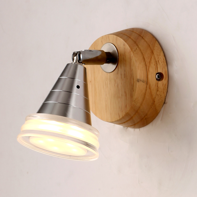 Free shipping North European  Russian style Brief  living room wooden oak wall lampFree shipping North European  Russian style Brief  living room wooden oak wall lamp