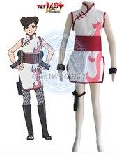 Hot Anime Naruto Tenten Cheongsam figura de acción vestido Cosplay Naruto Tenten Cheongsam vestido de fiesta de disfraces falda mujeres que arropan