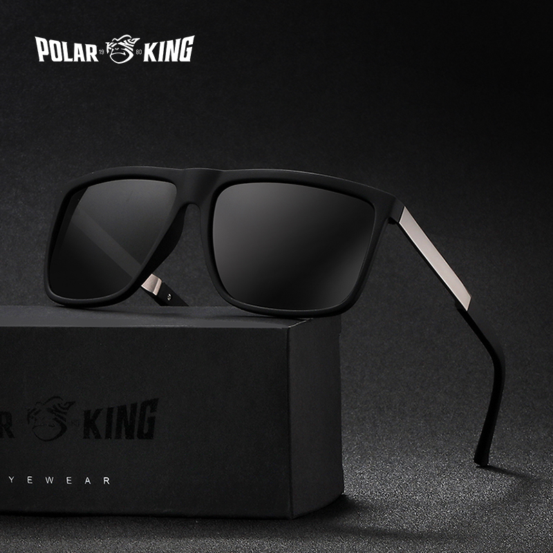 POLARKING Brand Retro Square Polarized Sunglasses Men's Driving Eyewear Traveling Sun Glasses Oculos de sol Gafas