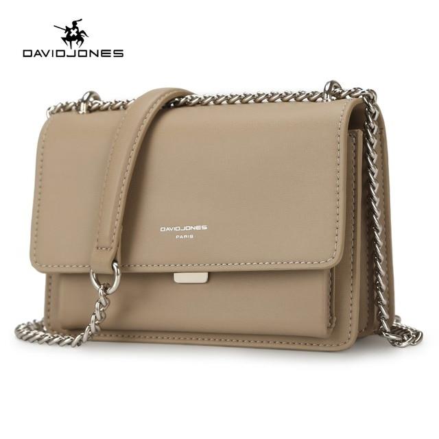 fe156ceb2f DAVIDJONES women handbag faux leather female crossbody bags small lady  chain shoulder bag girl brand messenger bag drop shipping