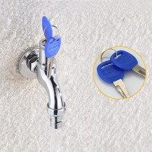Противоугонный кран водопроводный кран с замком ключ сплав/латунь корпус одно отверстие ключ переключатель кран водоразборный для кухни открытый сад