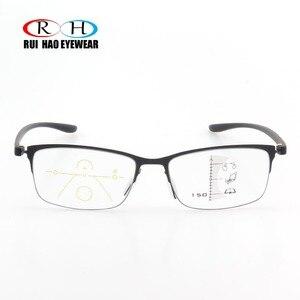 Image 3 - 안티 블루 레이 프로 그레시브 안경 독서 노안 안경 패션 프레임 클리어 렌즈 추가 + 1.00 ~ + 3.50 다 초점 안경