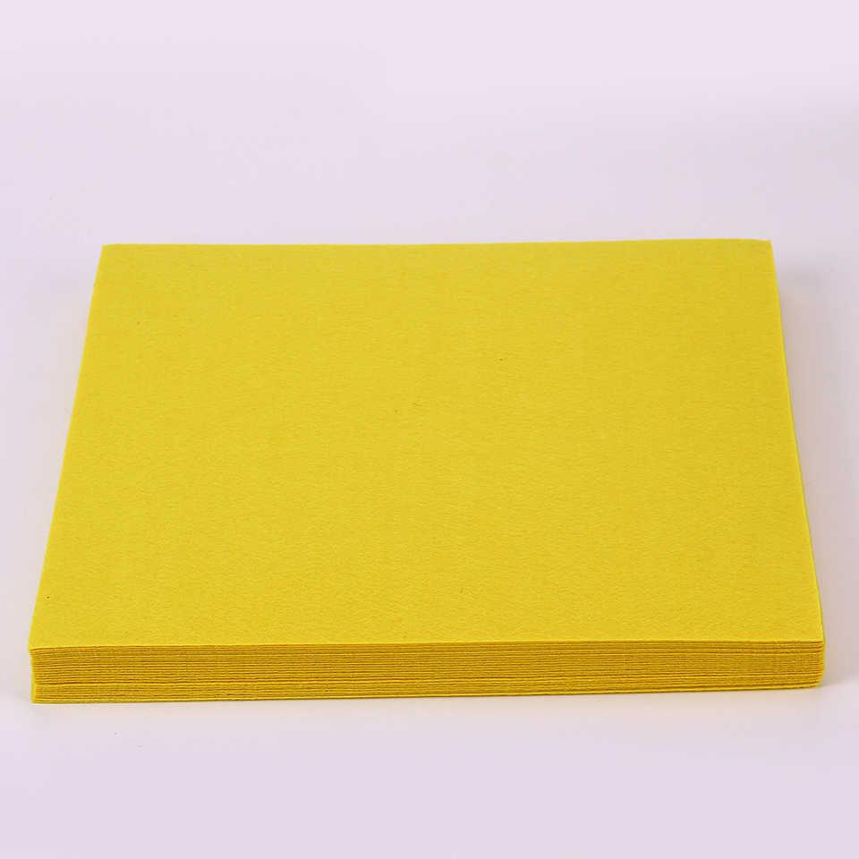 """Чистый Цвет рукоделие фетровая ткань желтый Цвет 30X30 см, 1 мм плотная войлочная ткань пакет инструменты для шитья """"сделай сама"""" квадраты нетканого материала в стиле пэчворк"""