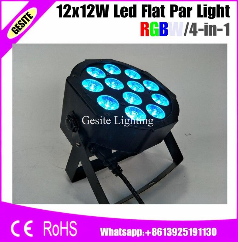 12pcs/LOT 12pcs LED Par Light 12X12 RGBW 4IN1 LED DMX Led Flat Dj