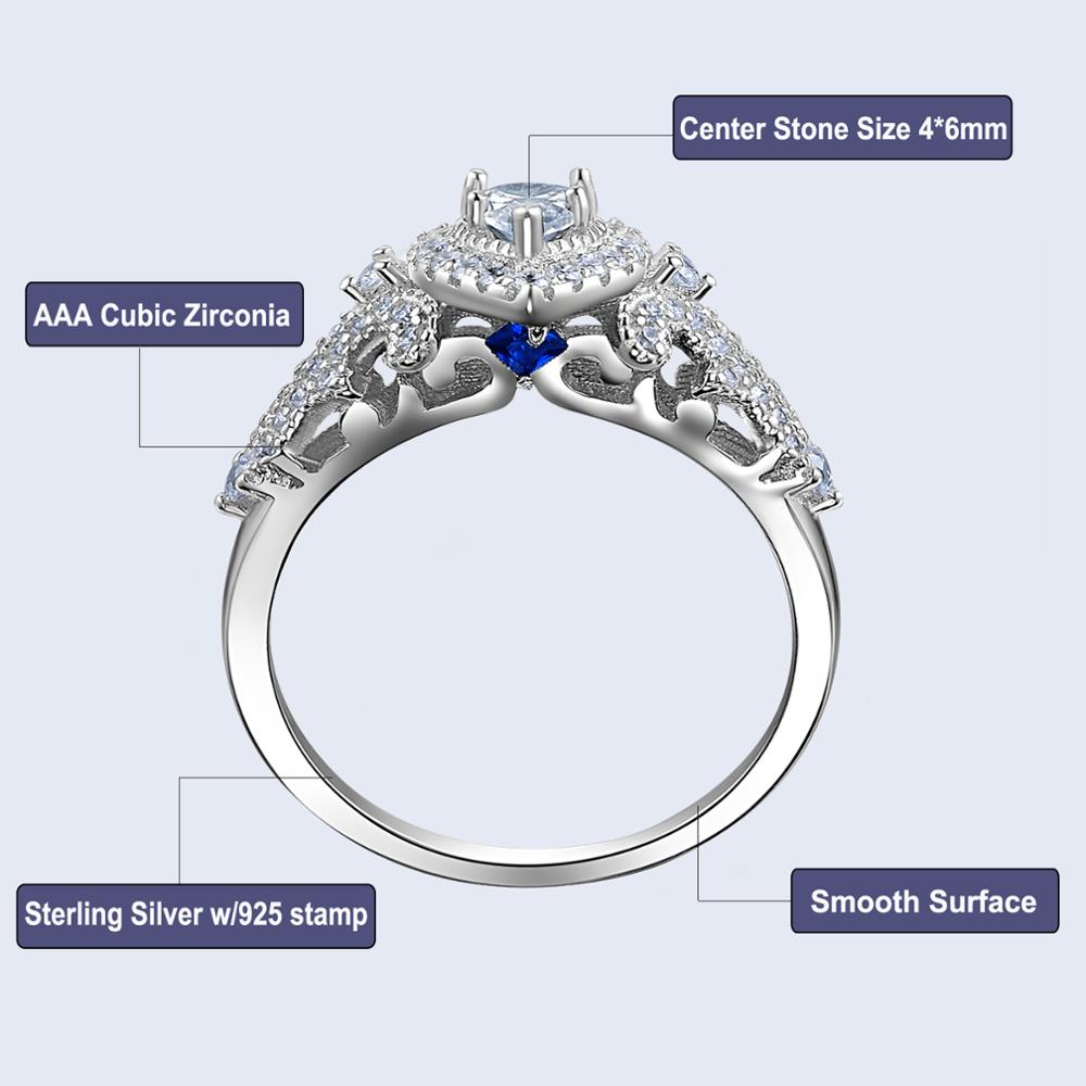 1.4 Ct teardrop Pear Shaped Cubic Zirconia 925 Sterling Silver 3Pcs Wedding Ring Set