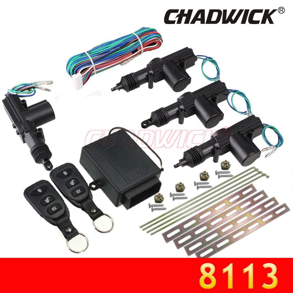 Nouveau 12 V système de verrouillage de porte Central télécommande sans clé entrée sécurité 4 serrure de porte actionneur véhicule Kit universel CHADWICK 8113
