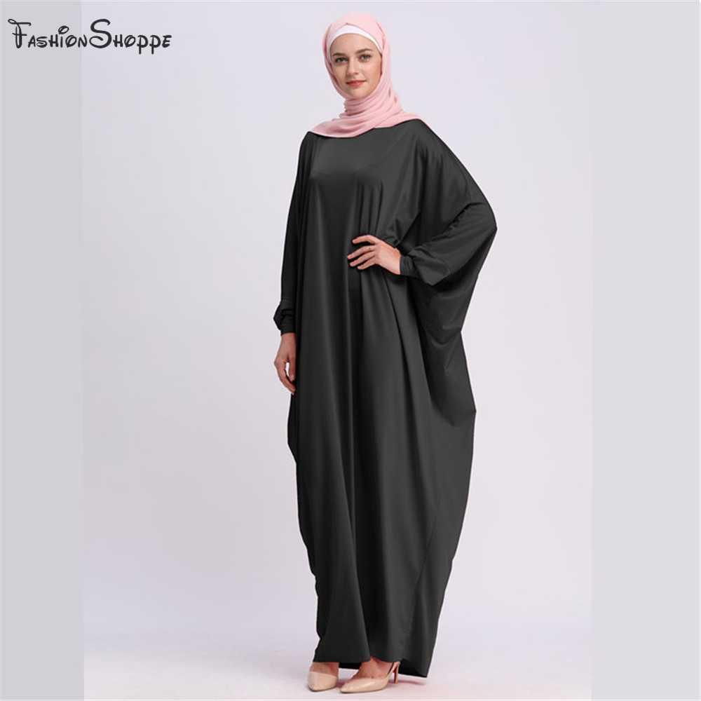 מזדמן מוסלמי העבאיה בת שרוול מקסי שמלת קרדיגן Loose ארוך Robe שמלות הרמדאן טורקיה האסלאמי תפילת בגדי פולחן שירות