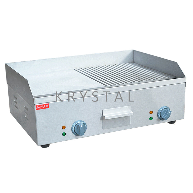 Electric Grill Pan Stainless Steel Grilling Machine Commercial Teppanyaki Machine FY-600A free shipping fy 300 all with stainless steel beefsteak cooking tool teppanyaki machine food frying pan