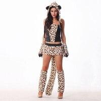 VASHEJIANG Animal Kigurumi Fur Leopard Cat Girl Costume Women Sexy Animal Fur Fox Cosplay Fantasias Halloween