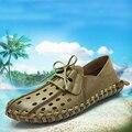 Tamaño 38 ~ 45 Marca hylouto Hombres Sandalias Zapatos Calados Transpirables Pescador Zapatos Estilo Gladiador Retro #701