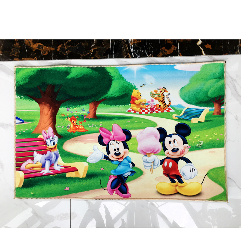 US $9.99 |Disney Mickey Minnie Mouse Rug Children Kids Crawling Game Mat  Bedroom Decor Carpet Indoor Welcome Soft Four Season Mat gift-in Rug from  ...