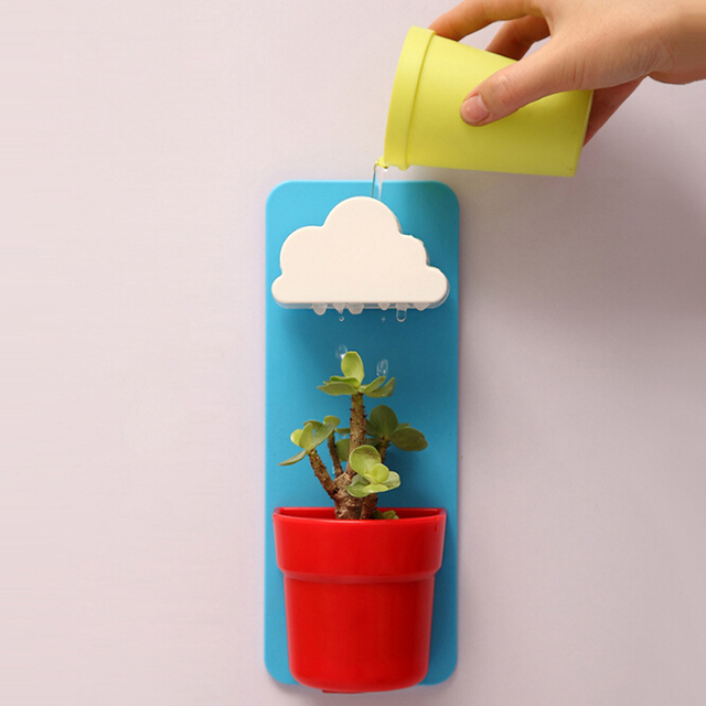 Plastic Hanging Garden Pot Clouds automatic water Succulent Plants Flowerpot Home Office Decoration Balcony Decorative potted
