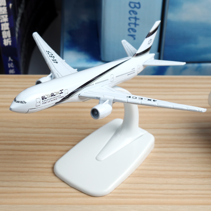 16cm El Al Israel Boeing 777 Airlines Airplane Model Bangkok Finsh A320 German Lufthansa A380 Aircraft Israel Airway Model 1:400 1 400 jinair 777 200er hogan korea kim aircraft model