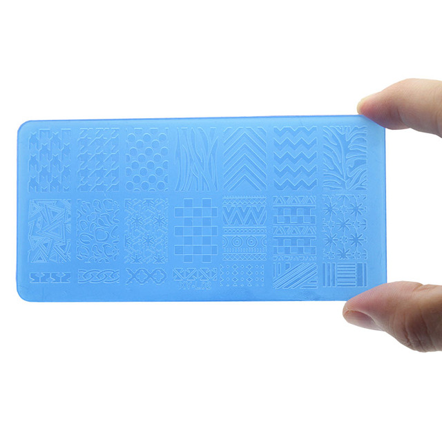 1Pcs Nail Art Stamping Plate Plastic Templates