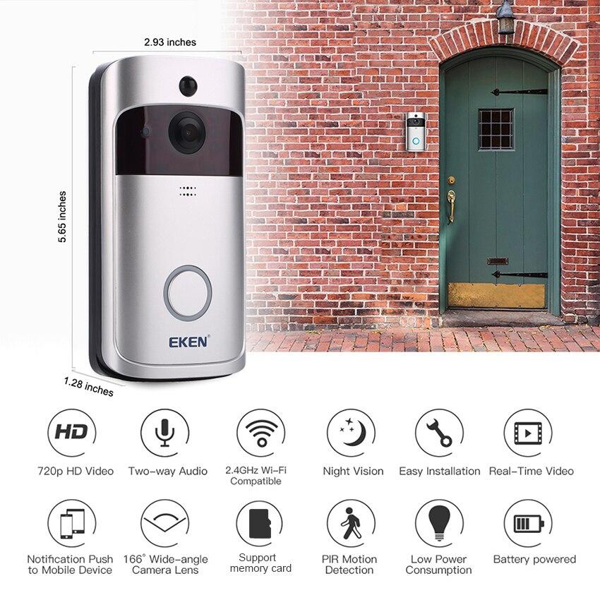 Image 3 - V5 Smart IP WIFI Doorbell Video Intercom WI FI Door Phone Door Bell Camera For Apartments IR Alarm Wireless Security Camera-in Doorbell from Security & Protection
