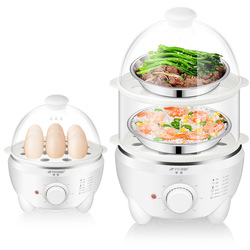 New Egg Cooker Household Automatic Power-off Large Capacity Egg Boiler Large Timing Double Layer Steamed Eggs Breakfast Machine