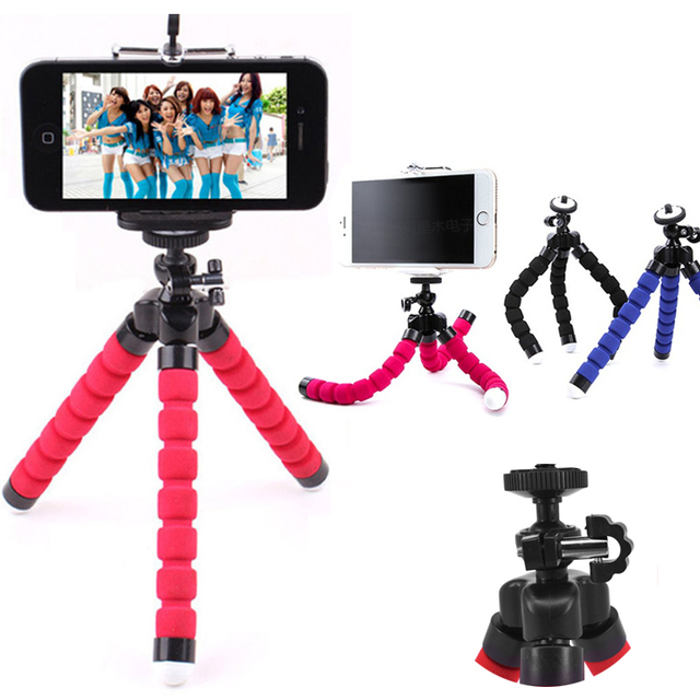 premium selection f396f 802d8 US $1.99 |Mini Tripod Digital Camera Mobile Phone Stand Flexible Octopus  Flexible Tripod for iPhone GoPro Canon Nikon Sony Camera-in Live Tripods  from ...