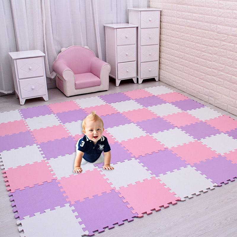 Meiqicool Baby EVA Foam Play Puzzle Mat/ 18 Or 24/lot Interlocking Exercise Tiles Floor Carpet Rug For Kid,Each 29cmX29cm