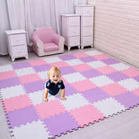 meiqicool baby EVA Foam Play Puzzle Mat/ 18 or 24/lot Interlocking Exercise Tiles Floor Carpet Rug for Kid,Each 29cmX29cm