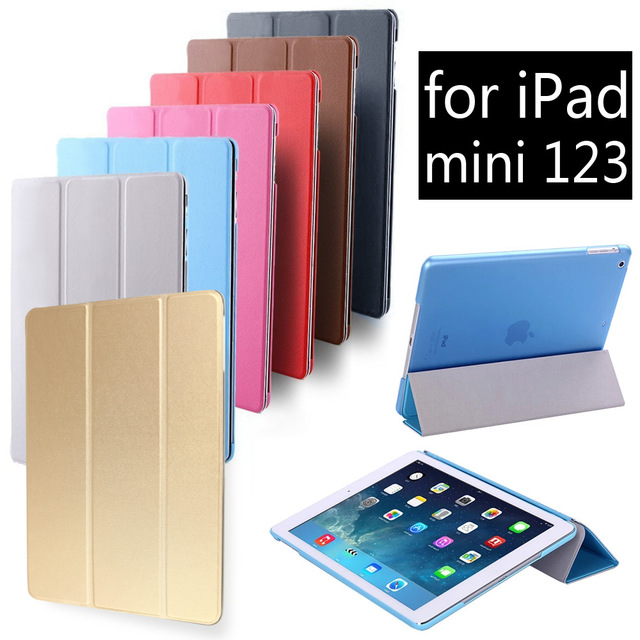 Fashion Ultra Slim Magnetic Smart Cover PU Leather tablet Case for Apple iPad mini 1 2 3 mini1 mini2 mini3 steelie magnetic tablet socket