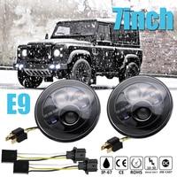CO LIGHT 7 Round Headlight 50W 30W Auto Led Driving Light H4 Hi Lo 12V 24V
