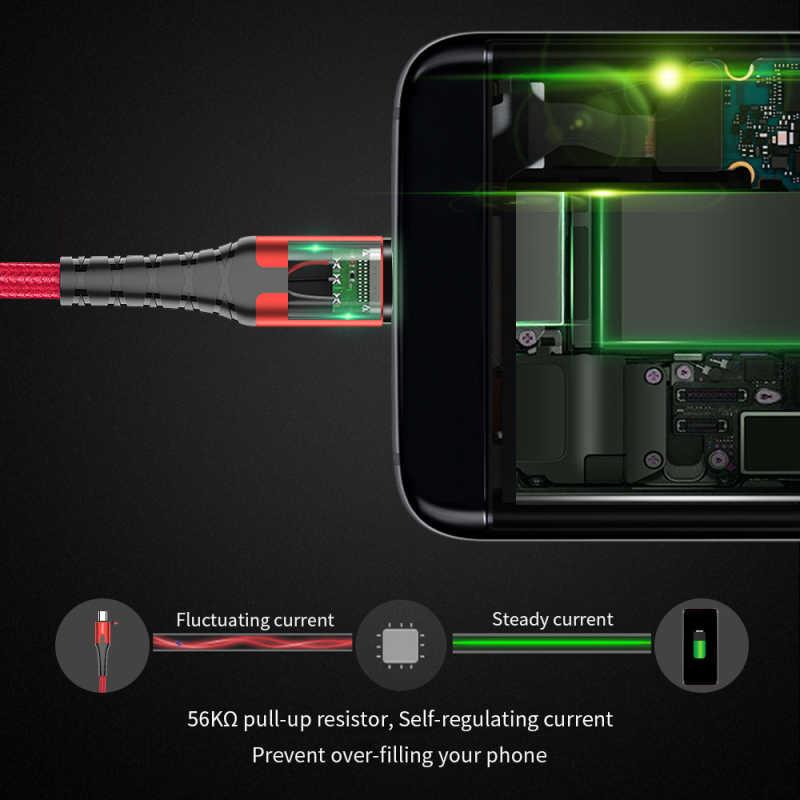 Essager Pengisian Cepat Kabel Data Micro USB Tipe C Kabel Charger Micro USB untuk Samsung Xiaomi Huawei Ponsel LG android
