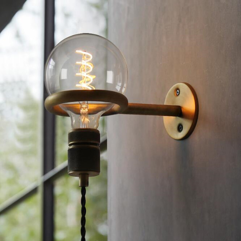 Luminaria Loft Retro Industrial Lamp Restaurant Deco Lights Living Room wandlamp Bedside Bedroom Punk Pull Ring LED Wall LightLuminaria Loft Retro Industrial Lamp Restaurant Deco Lights Living Room wandlamp Bedside Bedroom Punk Pull Ring LED Wall Light