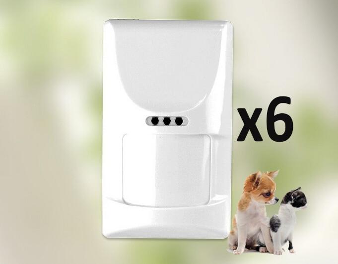 Hot Moving Body Detector But Pet-friendly Pet-immune PIR Motion Detector 6pcs For G90B And G90B Plus