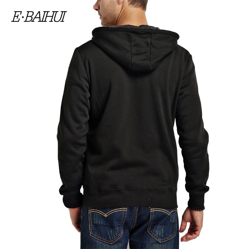 Muška odeća ... Duksevi ... 32742711192 ... 2 ... E-BAIHUI 2019 new autumn cotton zipper coats men's fashion hoodies and sweatshirts man casual winter hoodies men jacket 5742 ...