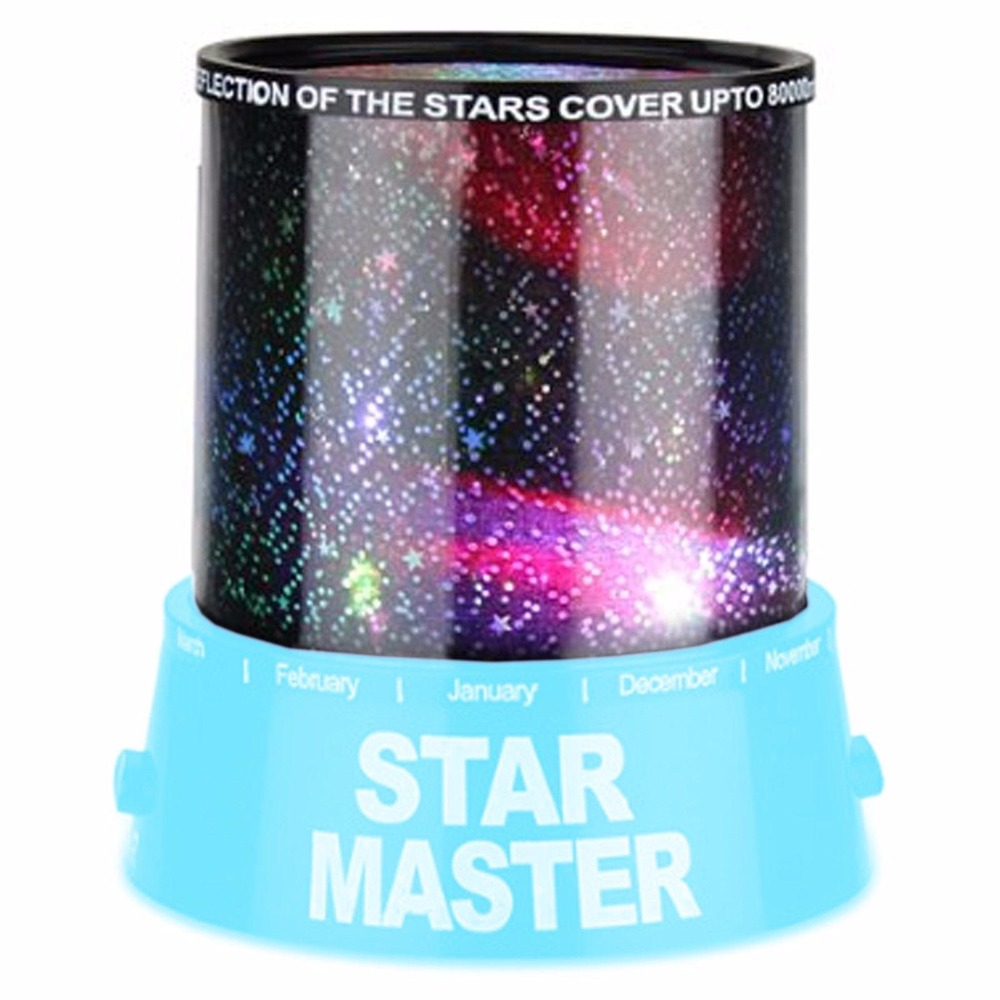 Romantic Blue Star Sky Universal Night Light Kid Chidren Dreamlike Projector Christmas Gift Present ...
