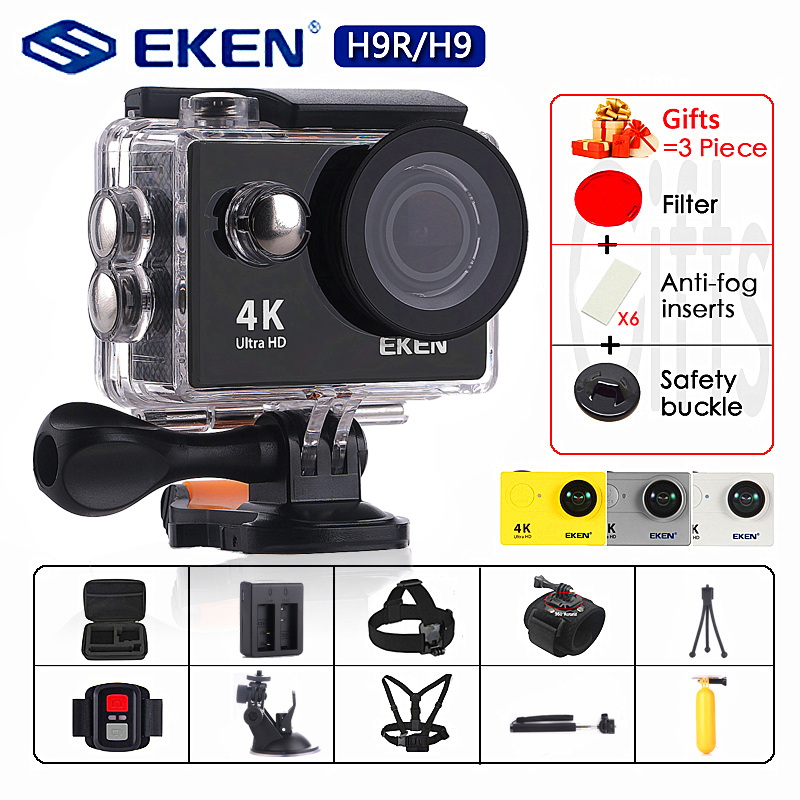 "Original EKEN H9 / H9R Action Camera Ultra HD 4K / 30fps WiFi 2.0"" 170D Underwater Camera Waterproof Cam Helmet Camera Sport Cam(China)"