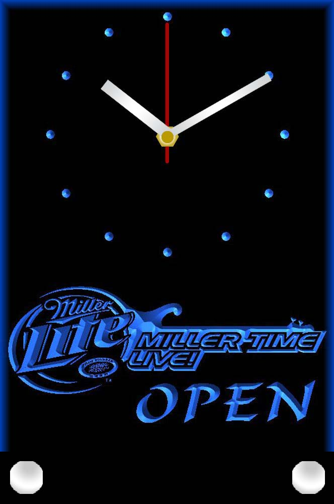 tnc0009 Miller Lite Time Live Beer OPEN Table Desk 3D LED Clock