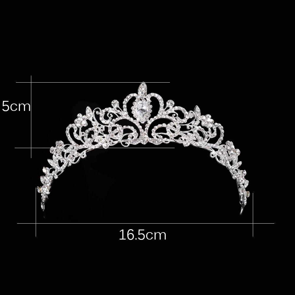 4db46f35e8107 الزفاف كريستال تيارا التيجان الأميرة الملكة القلب رباطات زهرة الفضة ...