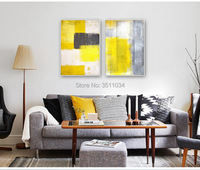 High quality abstract art color block simple modern living room decoration painting bedroom murals restaurant hotel room paint