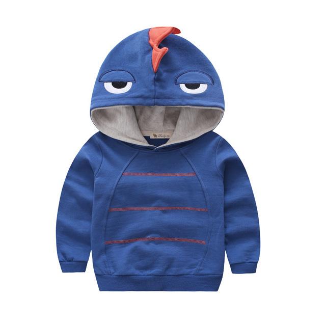 2017 niños del resorte de los hoodies Del algodón Del Muchacho de moda sudadera monstruo de dibujos animados de dinosaurios bebé kid ropa pullovers bobo choses