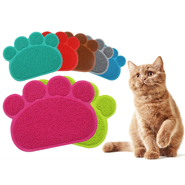 Cat Litter Mat Pet Toilet Rug And Carpet Pvc Dish Bowl Food Water Tray For Dogs