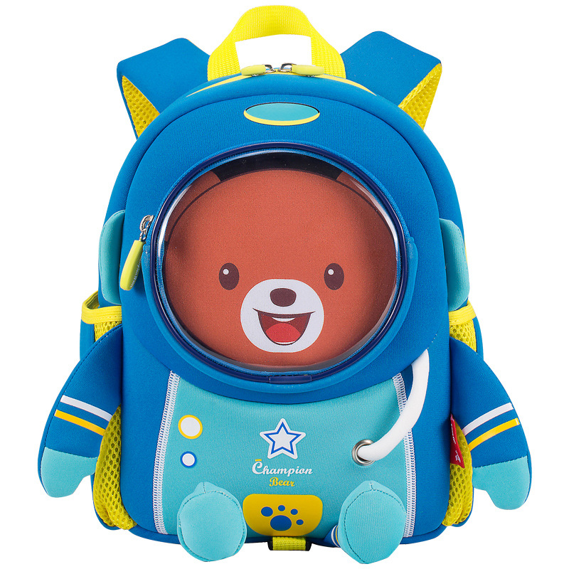 3D Space Bear School Backpack For 2-6 Years Old Kids Cartoon Schoolbag Waterproof Children School Bags Boy Girl Mochila Infantil