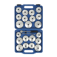 23 Pcs Set Oil Filter Cap Removal Wrench Socket Set Ratchet Spanner Cup Type With Portable