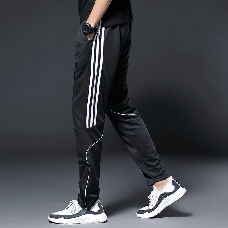 男性スポーツランニングパンツジッパーポケットアスレチックサッカーサッカートレーニングスポーツパンツ弾性レギンスジョギングジムズボン
