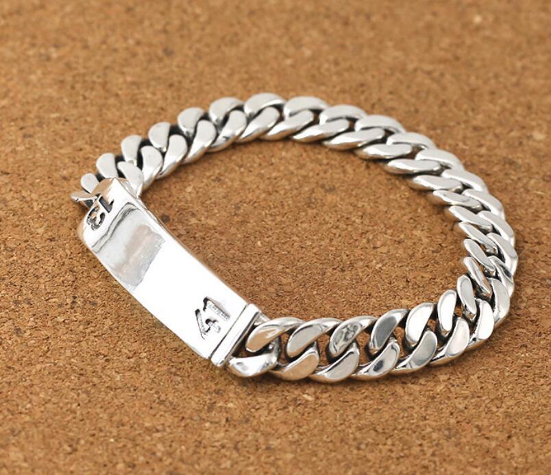 Чистое Серебро 925 пробы, ювелирные изделия из серебра в стиле ретро, номер 1314, цепочка с крестом, S925 браслет - 2