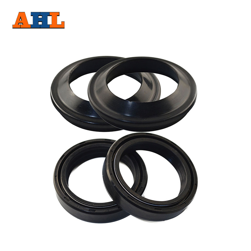 AHL 41x53x8/10.5 Motorcycle Front Fork Damper Oil Seal and Dust seal (41*53*8/10.5) For Kawasaki Suzuki Yamaha XVS650 GSF250 honda 51490 mn8 305 seal set fr fork