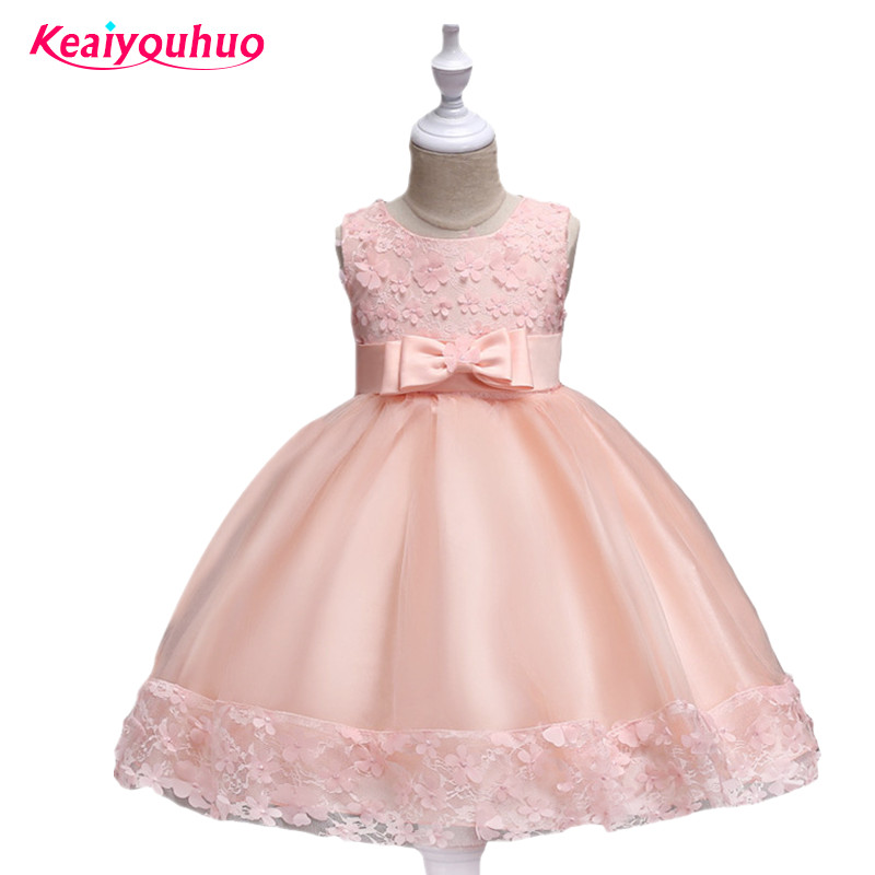 New Year Formal Gown Princess Summer 2017 New Party Dress Girl Children Clothing Prom Wedding Kids Clothes Girls Tutu Dresses red new summer flower kids party dresses for weddings formal princess girl evening prom sleeveless girl bow mesh dress clothes