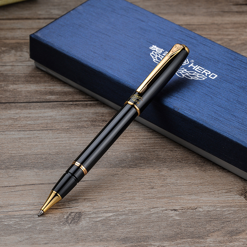 Hero 1079 Black Metal Rollerball Pen Noble Luxury Ballpoint/Sign/Writing Pens Free Shipping цена