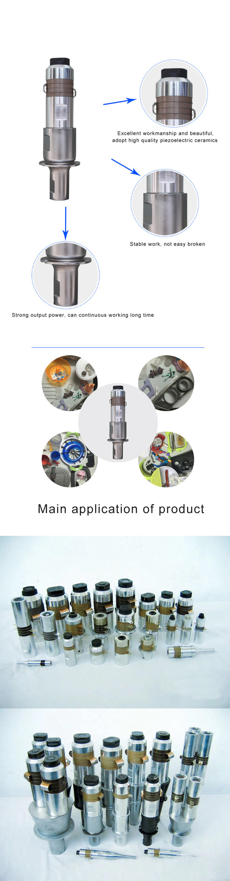 500w20khz Ultrasonic Welding Transducer Horn500w High Power Generator Circuit Gt 120w 110v 1500w 20khz