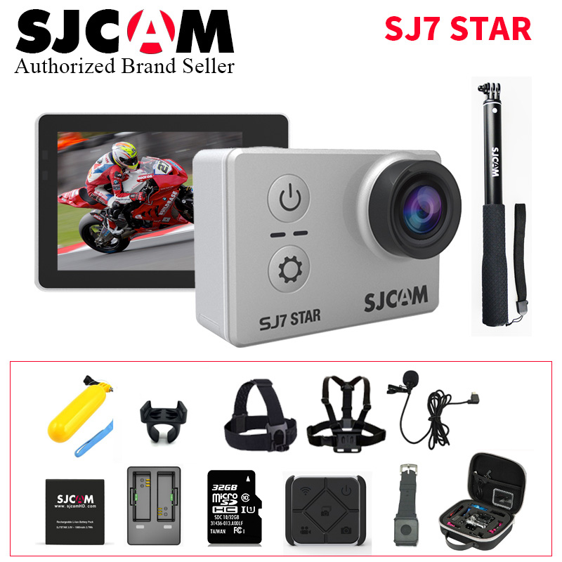 Sport Action Camera Original SJCAM SJ7 Star Wifi 4K GYRO Touch Screen 30M Waterproof Camcorder Better Gopro Hero 4 Style CAM